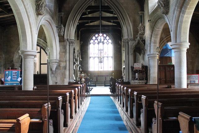 Interior, St Michael & All Angels' church, Uffington