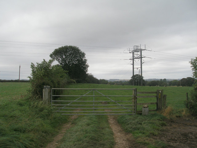 Unusual pylon on the Ripon Rowel Walk