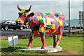 J3683 : Cow parade, Jordanstown by Albert Bridge