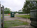 SS8185 : Entrance to the car park, Margam Country Park by Simon Mortimer