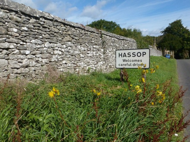 Approaching Hassop Hall