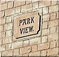SJ9594 : Park View name plaque by Gerald England