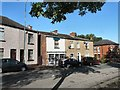 SJ9593 : Shadows across Stockport Road by Gerald England