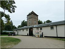 TQ1352 : Water tower and stable block at Polesden Lacey by Dave Spicer