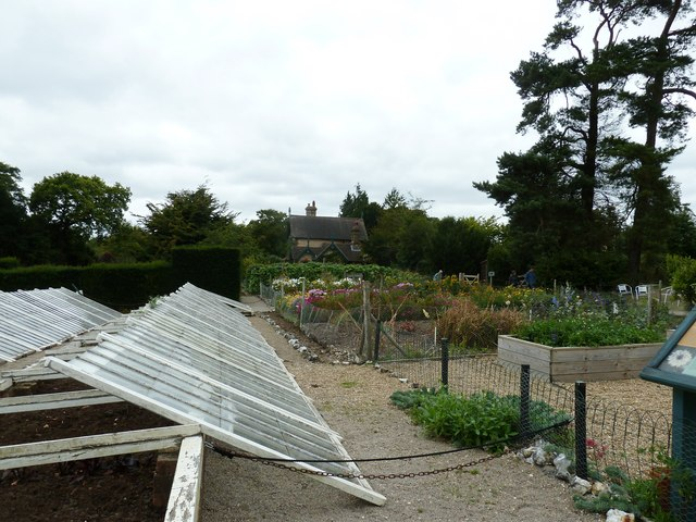 Flower and vegetable garden Polesden Lacey