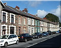 ST0292 : Long row of houses, Aberrhondda Road, Porth by Jaggery
