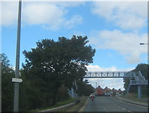NZ2542 : Footbridge over the A167 at Redhills in Durham City by peter robinson