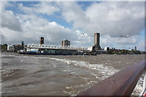 SJ3290 : Mersey ferry leaving Seacombe Ferry Terminal by Alan Heardman
