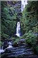 SJ0729 : Pistyll Rhaeadr waterfall by Roger May