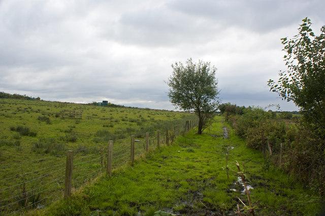 A footpath by Garnet Fold Farm