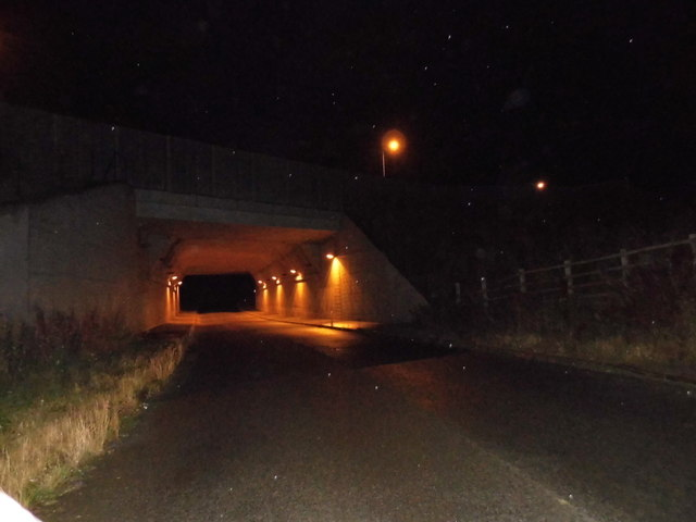 Lybury Lane going under the M1 motorway
