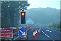 NM8725 : Roadworks on the A816 at Kilmore by Steven Brown
