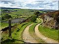 SE0436 : Farm track south of Haworth by John Darch