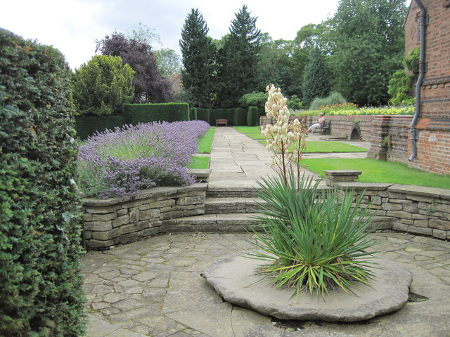 Part of the terrace at the rear of Goddards