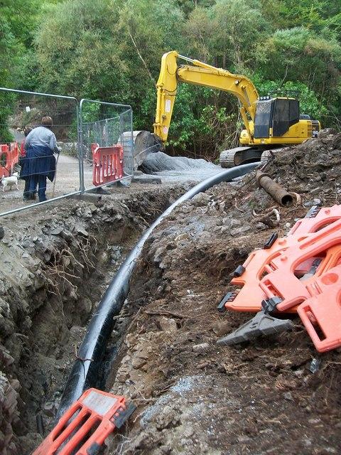 The extraction pipeline at Craignagore Bridge