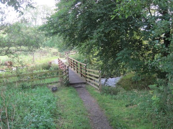 Footbridge and Footpath over Pow Charney Burn
