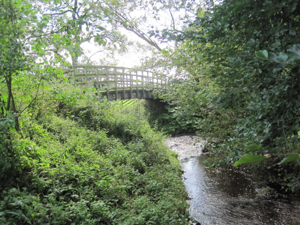 Footbridge and Confluence of Pow Charney Burn and Tipal Burn