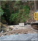 J3629 : View towards the intake point on the Glen River of the Newcastle HEP scheme by Eric Jones