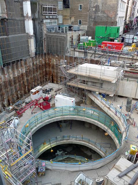 Crossrail construction, Tenterden Street (1)