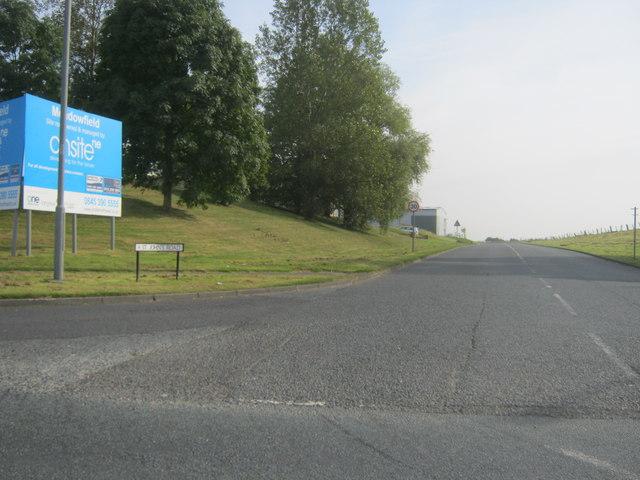 St John's Road entrance to Meadowfield Industrial Estate