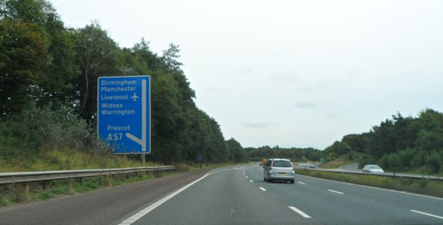 M57 approaching junction 2