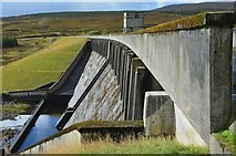 NH3470 : Glascarnoch dam from the north by Jim Barton