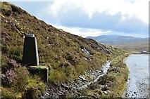 NH3470 : Survey pillar, Glascarnoch dam by Jim Barton