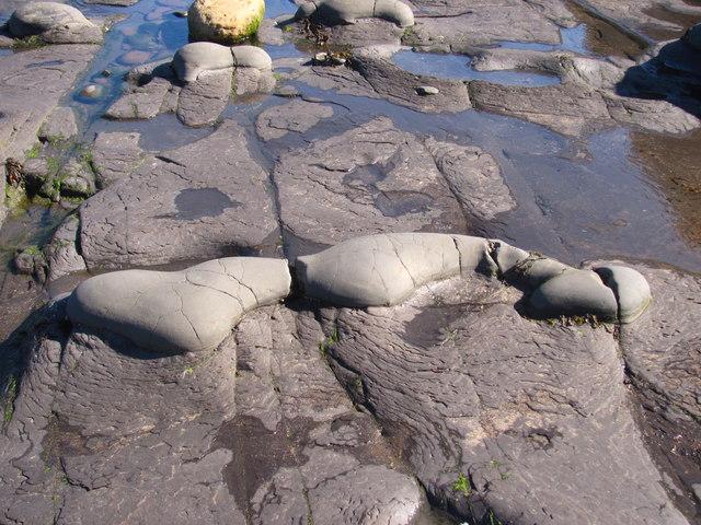 Beach rock formation