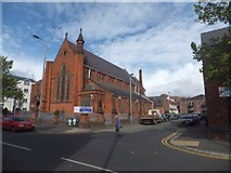 J3472 : The east side of All Saints Church in University Street by David Smith