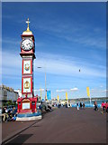 SY6879 : Weymouth, Jubilee Clock and Seafront by Roy Hughes