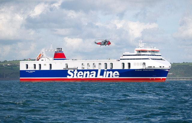 The 'Stena Precision' in Belfast Lough