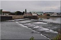 SX9291 : Exeter : The River Exe - Trew's Weir by Lewis Clarke