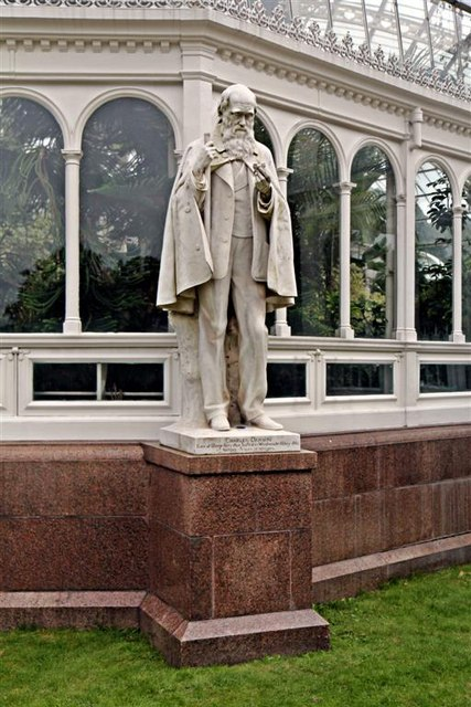 Darwin Statue, Sefton Park, Liverpool