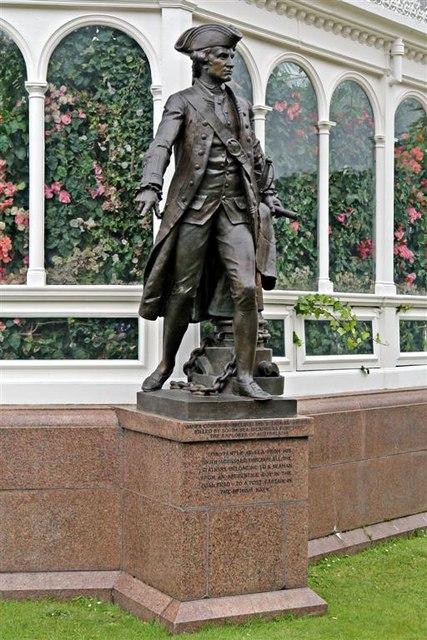 Captain Cook Statue, Sefton Park, Liverpool