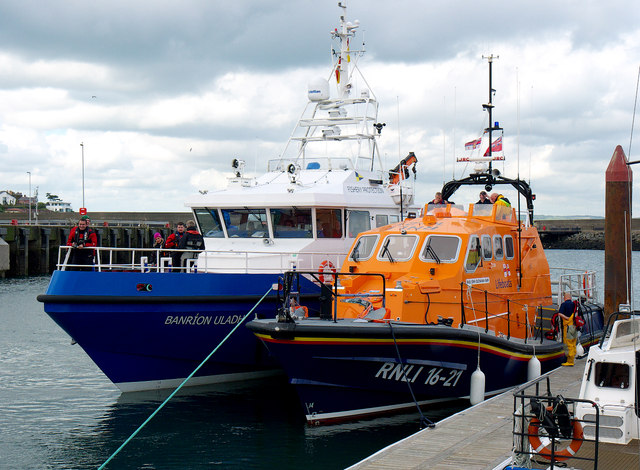 The 'Banríon Uladh ' and Portpatrick Lifeboat at Bangor