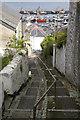 SW4628 : Stairway to harbour by Elizabeth Scott