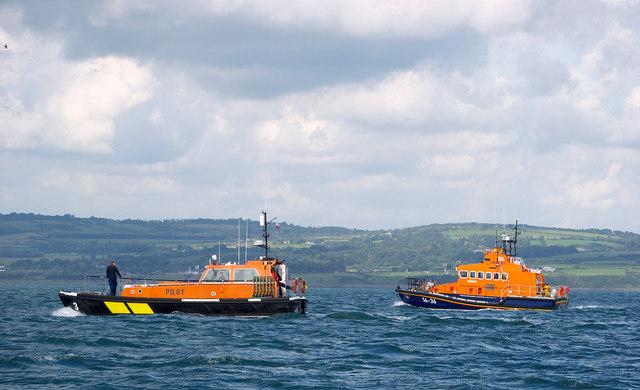 Pilot boat 'PB3' and Donaghadee Lifeboat, Belfast Lough