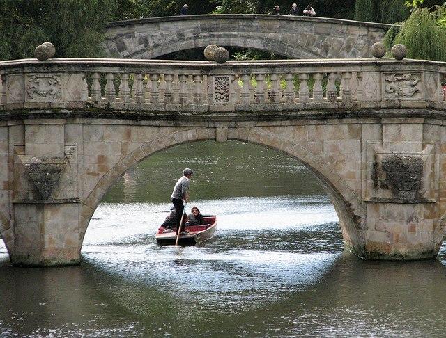 Clare Bridge and a punt