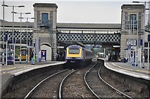 SX9193 : Exeter : Exeter St Davids Railway Station by Lewis Clarke