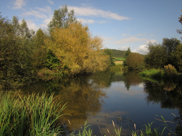 Pond at Lower Bruckland Trout Fishery
