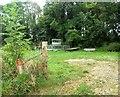 TQ5105 : Field of farm equipment, Berwick by nick macneill