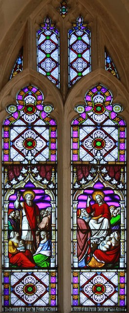 Assumption of the Blessed Virgin Mary, Harlton - Stained glass window
