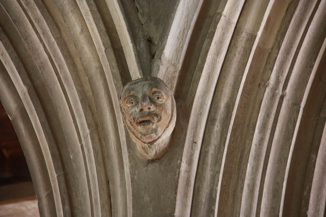 Assumption of the Blessed Virgin Mary, Harlton - Corbel