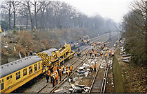 TQ2775 : Clearing up after the 12 December 1988 crash west of Clapham Junction by Ben Brooksbank