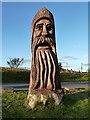 NH9022 : A timber sculpture at Carrbridge by Walter Baxter