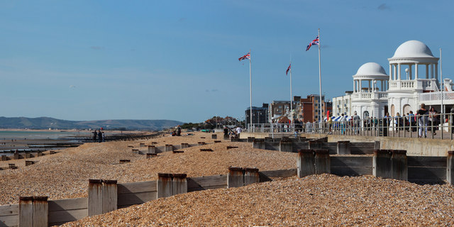 Bexhill Beach and The Colonnade