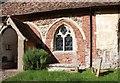 TL3250 : St Nicholas, Arrington - Window by John Salmon