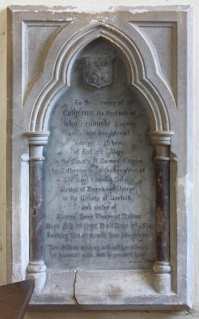 All Saints, Barrington - Wall monument
