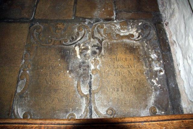 All Saints, Barrington - Ledger slab