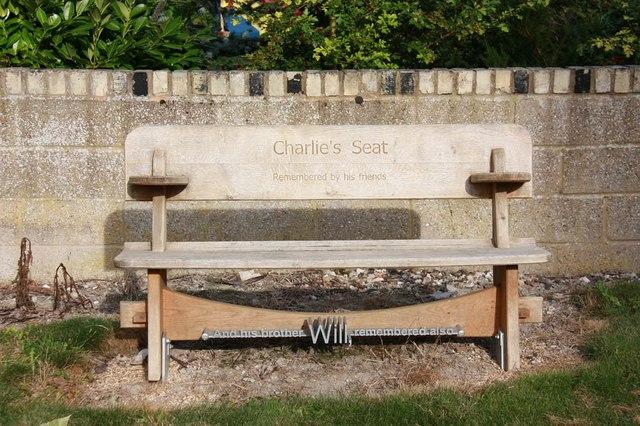 All Saints, Barrington - Churchyard bench